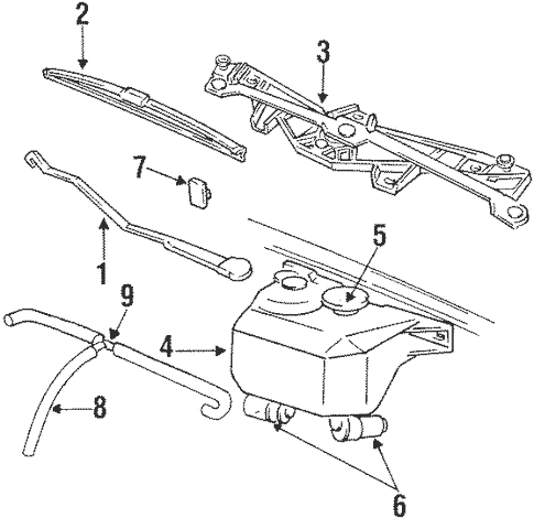 Wiper & Washer Components for 1997 Jeep Grand Cherokee