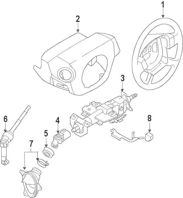 2009-2014 Nissan Murano Steering Wheel 48430-1AA4A