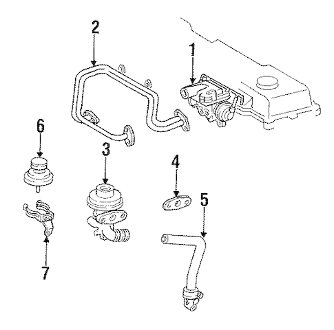 Genuine OEM EGR System Parts for 1993 Toyota Land Cruiser
