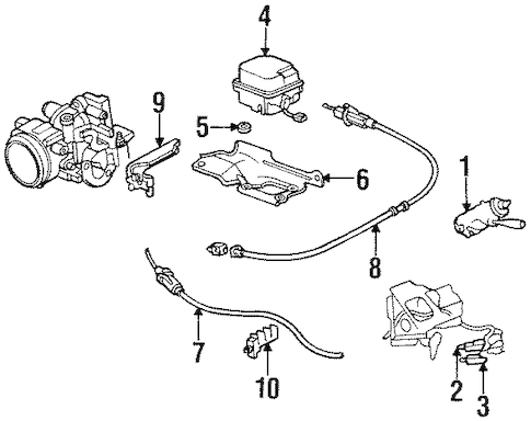 FUEL SYSTEM COMPONENTS Parts for 1997 Buick Riviera
