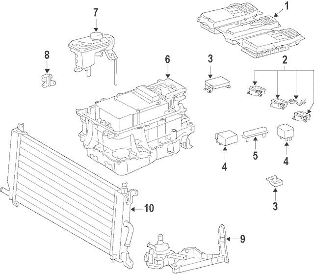 2008-2010 Toyota Highlander Inverter Cooler G9010-48030