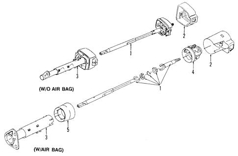 OEM 1995 Chevrolet Beretta Steering Column Parts