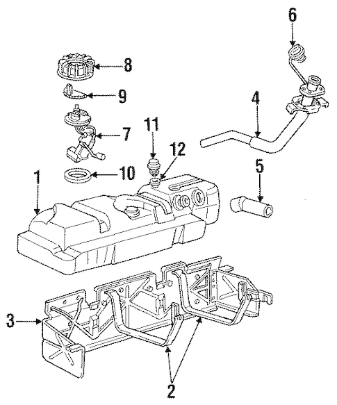 E7DZ-9B593-A Fuel Tank Vent Valve for 1988 Lincoln Town