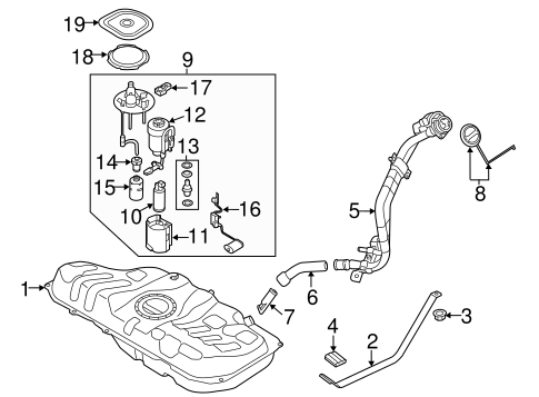Fuel System Components for 2013 Hyundai Elantra Coupe