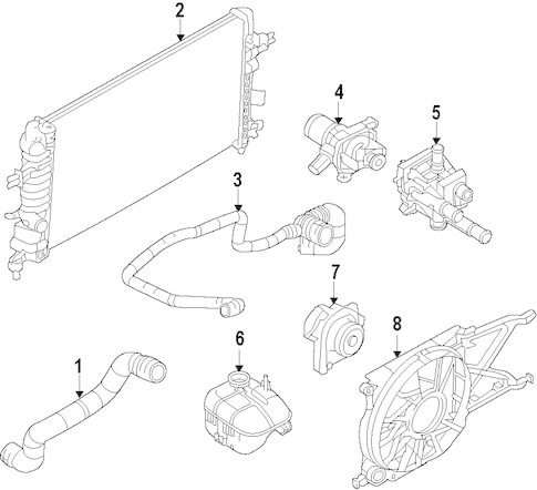 RADIATOR & COMPONENTS for 2008 Saturn Astra