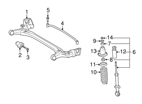 Genuine OEM REAR SUSPENSION Parts for 2003 Toyota Matrix