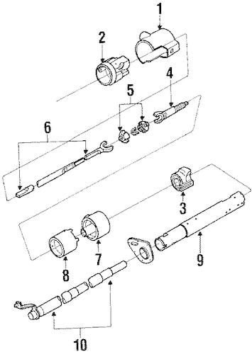 OEM 1989 Oldsmobile Custom Cruiser Steering Column