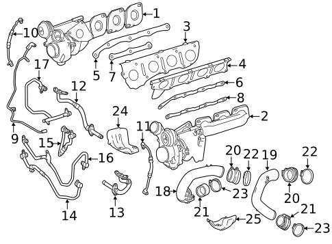 Turbocharger & Components for 2013 Mercedes-Benz GL 450