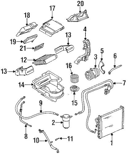 OEM 1990 Chevrolet Lumina APV Heater Components Parts