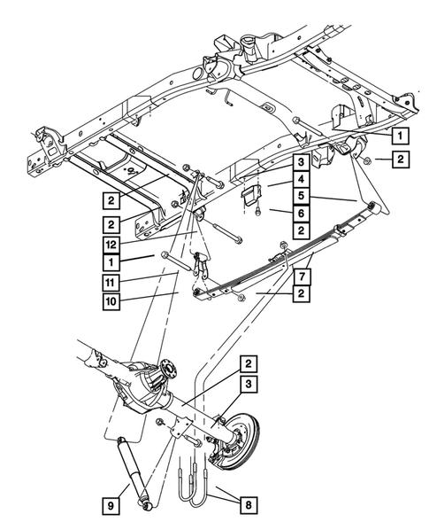 rear suspension for 2003 dodge ram 1500
