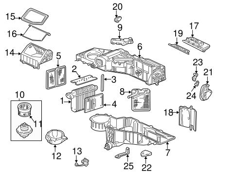 Evaporator & Heater Components for 2005 GMC Yukon XL 2500