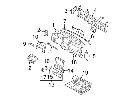 INSTRUMENT PANEL for 2009 Ford Escape