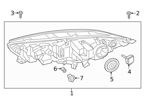 Headlamp Components for 2021 Ford Transit Connect