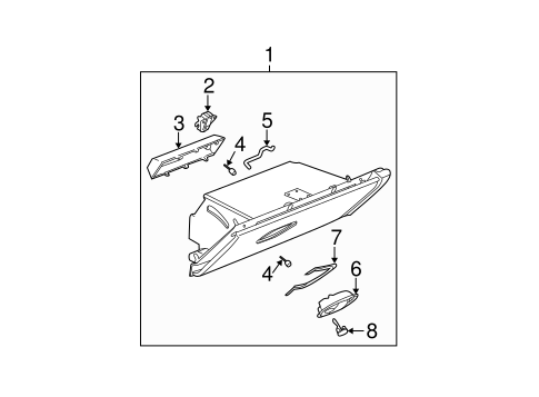 GLOVE BOX for 2003 Saturn Ion
