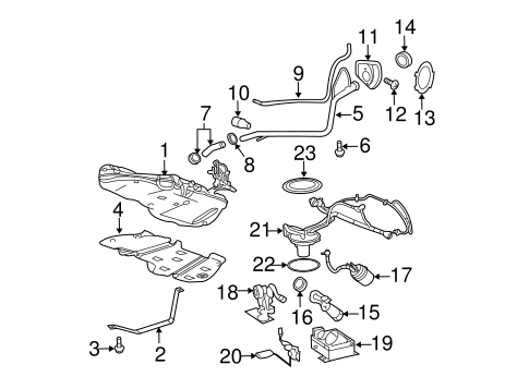 OEM Fuel System Components for 2009 Chevrolet Cobalt