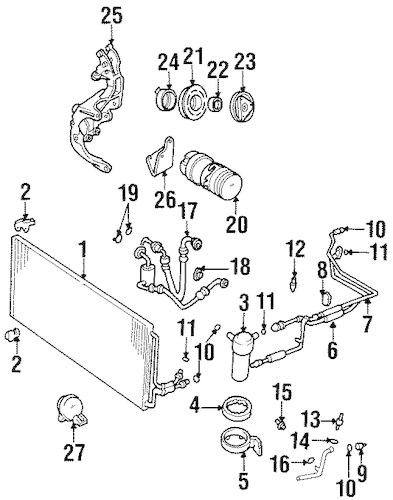 Condenser, Compressor & Lines for 1999 Chevrolet Monte