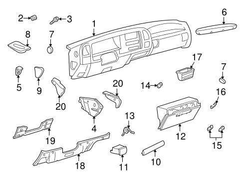 OEM INSTRUMENT PANEL COMPONENTS for 1995 Chevrolet K2500