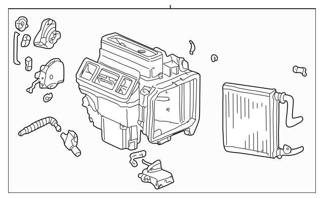 1999-2004 Honda ODYSSEY 5-DOOR Heater Unit 79100-S0X-A01