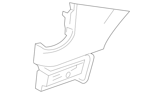 2015-2018 Chevrolet City Express Lower Extension 19317319