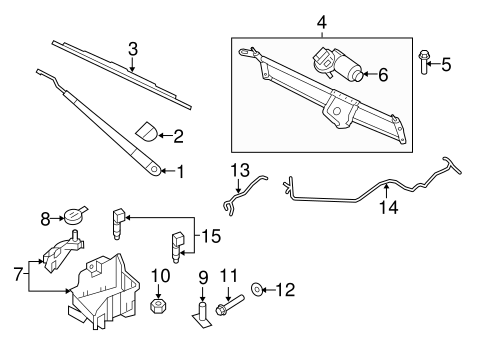 Wiper & Washer Components for 2011 Ford Expedition