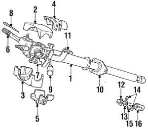 [1992 Dodge Ram Van B350 Turn Signal Switch Removal