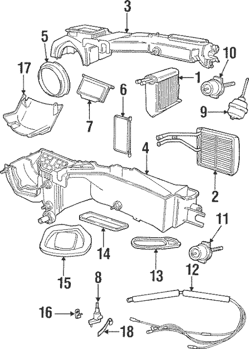 Evaporator & Heater Components for 2000 Jeep Cherokee