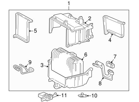Condenser, Compressor & Lines for 2001 Toyota Corolla