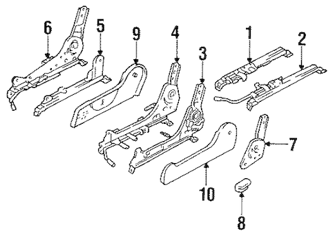 Genuine OEM Tracks & Components Parts for 1990 Toyota