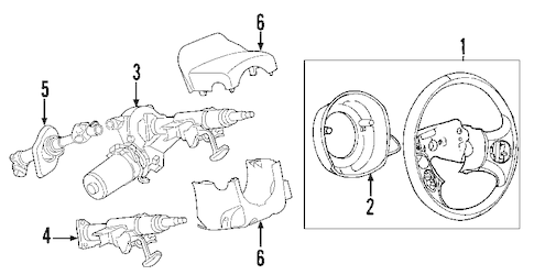 OEM 2010 Chevrolet Cobalt Steering Column Parts