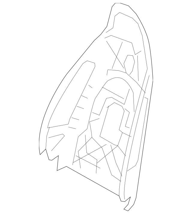 2010-2016 Porsche Panamera Seat Back Panel 970-521-303-10