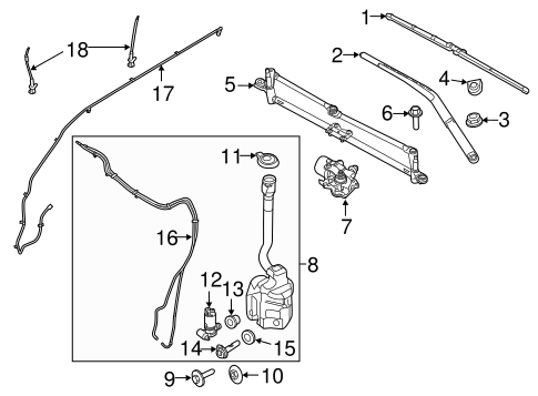 Wiper & Washer Components for 2015 Ford Police Interceptor