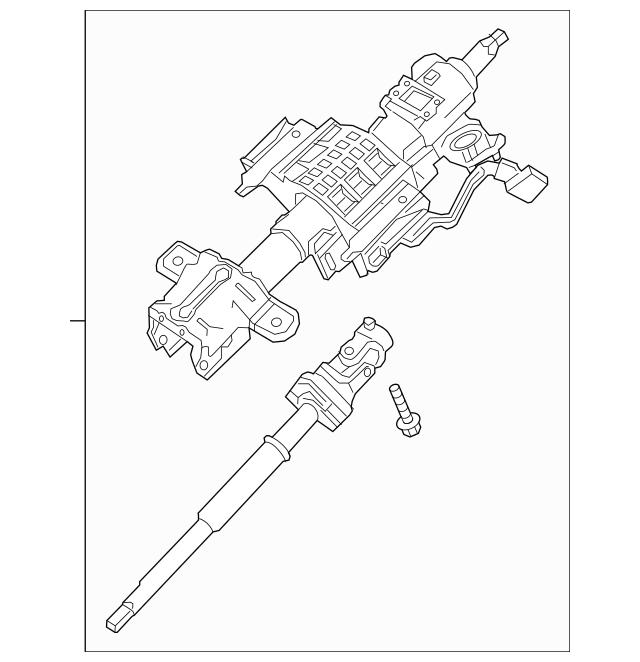 2015-2017 Ford Expedition Steering Column FL1Z-3C529-K
