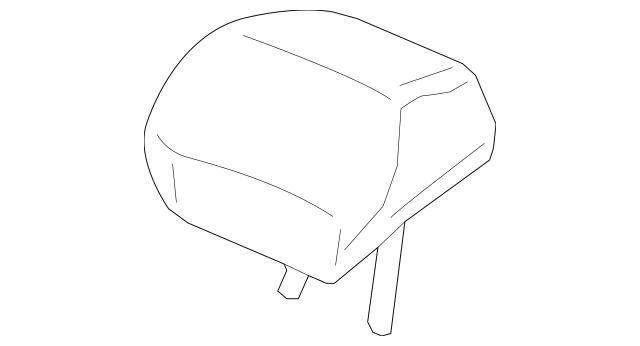 Genuine 2012-2013 Honda CIVIC COUPE Headrest Assembly