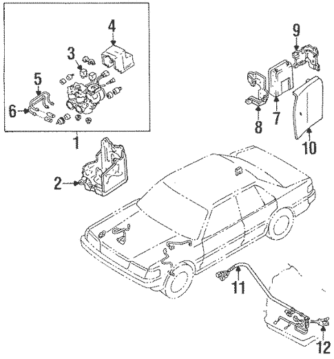 Genuine OEM Anti-Lock Brakes Parts for 1991 Toyota