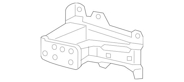 Honda Extension, L Front Bumper Beam 71160-TLA-A00