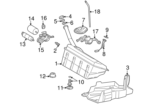 Fuel System Components for 1999 Mercedes-Benz SLK 230