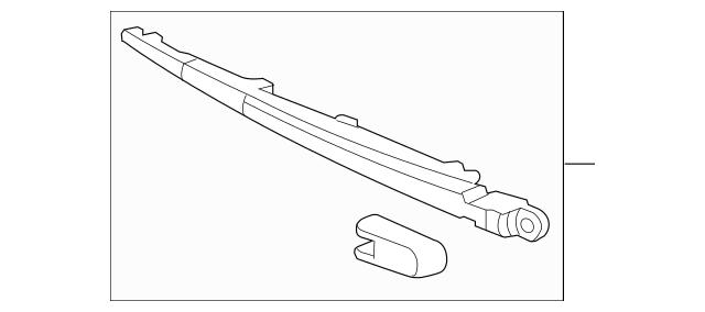 2003-2011 Honda ELEMENT 5-DOOR Arm, Rear Wiper 76720-SCV