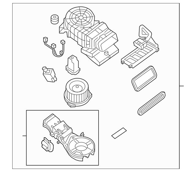 2013-2016 Nissan Pathfinder Blower Assembly 27413-3KA0A