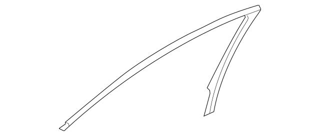 2009 Acura TSX SEDAN Garnish, L Front Door Sash (Inner