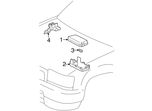 Genuine OEM Electrical Components Parts for 1996 Toyota