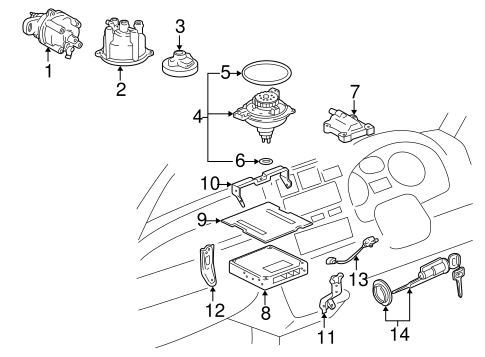 Genuine OEM Distributor Parts for 1997 Toyota RAV4 Base