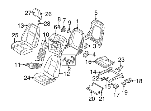 FRONT SEAT COMPONENTS for 2008 Volvo XC90