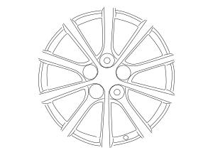 2006-2007 Mazda MX-5 Miata Wheel, Alloy 9965-38-7070