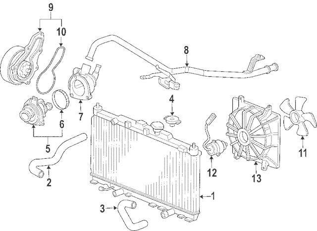 2003-2009 Honda ELEMENT 5-DOOR Motor, Cooling Fan (Denso