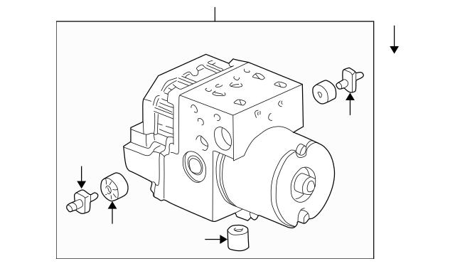 2003-2005 Honda Modulator Assembly 57110-S5A-D60