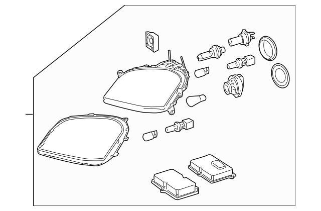 Mercedes-Benz OEM Headlamp Assembly Part# 164-820-47-59