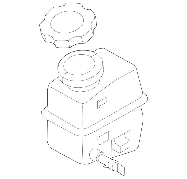 2011-2015 Hyundai Sonata Master Cylinder Reservoir 58511