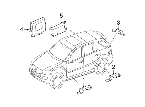 Keyless Entry Components for 2010 Mercedes-Benz GL 550
