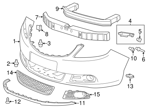 2014 Chevy Cruze Bumper Parts Diagram. Chevy. Auto Wiring