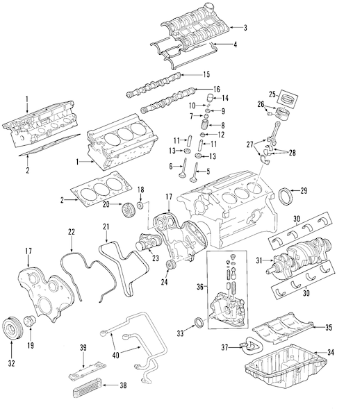 ENGINE for 2003 Saturn Vue (Base)